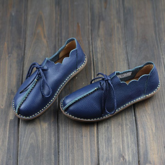 Promotion price Women Flat Shoes 100% Genuine Leather Ladies Flat Shoes Casual Lace up Moccasins Shoes Female Footwear (568-3) just only $35.70 with free shipping worldwide  #womenshoes Plese click on picture to see our special price for you