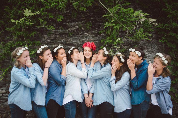 photographe EVJF Angers : Headbands à fleurs & Haka sur le toit