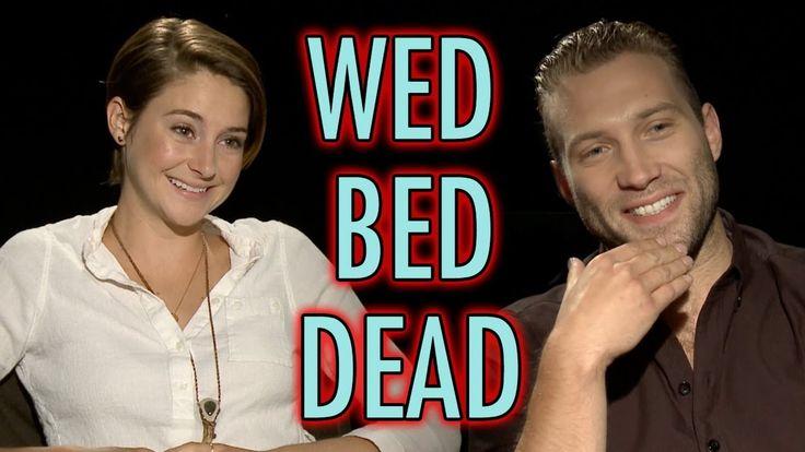 Divergent Cast Plays Wed, Bed, Dead - Shailene Woodley, Miles Teller, Jai Courtney