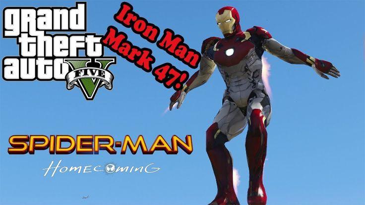 GTA 5 моды - Iron Man Mark 47 (Spider-man Home Coming)