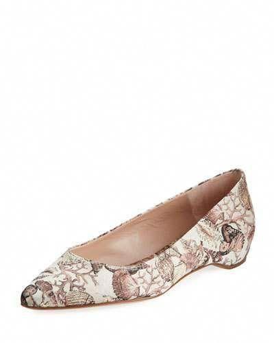 9d39c54a9 STUART WEITZMAN JULIE SEASHELL JACQUARD FLAT SKIMMER. #stuartweitzman #shoes  #