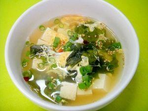 豆腐とわかめの中華卵スープ レシピ・作り方 by mint74|楽天レシピ