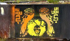 Stencil. (katutaide) Tags: street city autumn urban streetart art suomi finland graffiti town stencil countries crime owl nordic tampere syksy 2011 katutaide pispala finstreetart