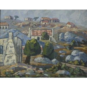 Houses on a Hill 500x400