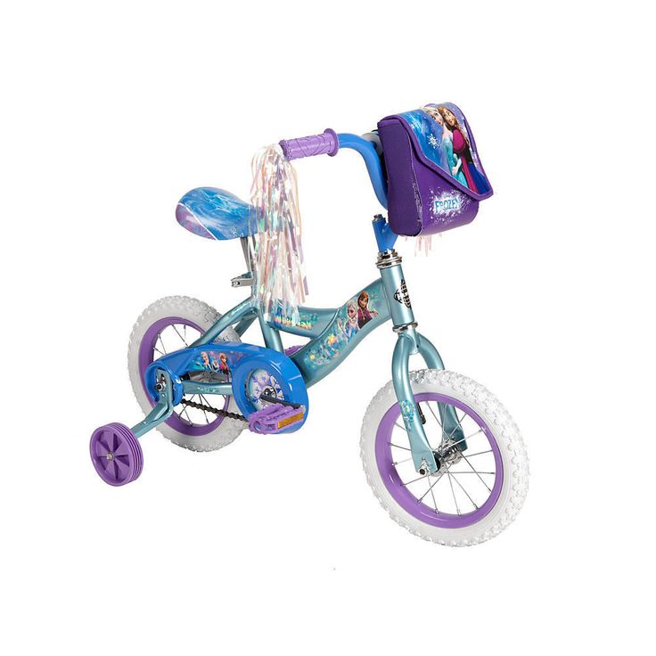 Huffy Girls' Disney Frozen 12-Inch Bike With Handlebar Bag #Huffy