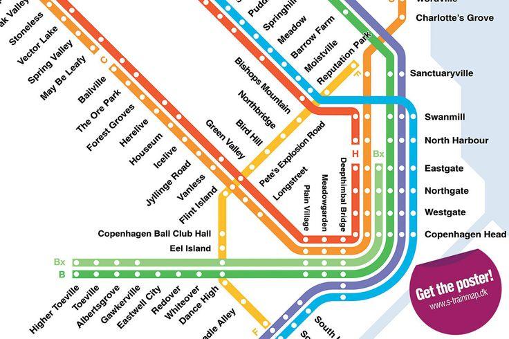 Copenhagen S-Train & Metro Map, Literal English Translation (Updated 2016 Edition) | English ...