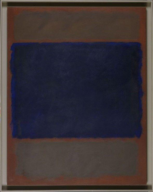 Untitled (Umber, Blue, Umber, Brown) - Stedelijk Museum Amsterdam