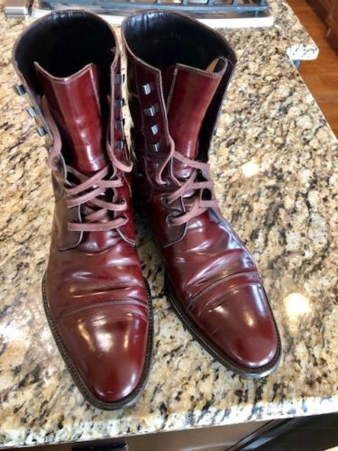 GUCCI-MADE-IN-ITALY-BURGUNDY-LEATHER-COMBAT-BOOTS-MENS-9-5-D