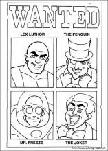 free comic book super hero coloring book printable pages