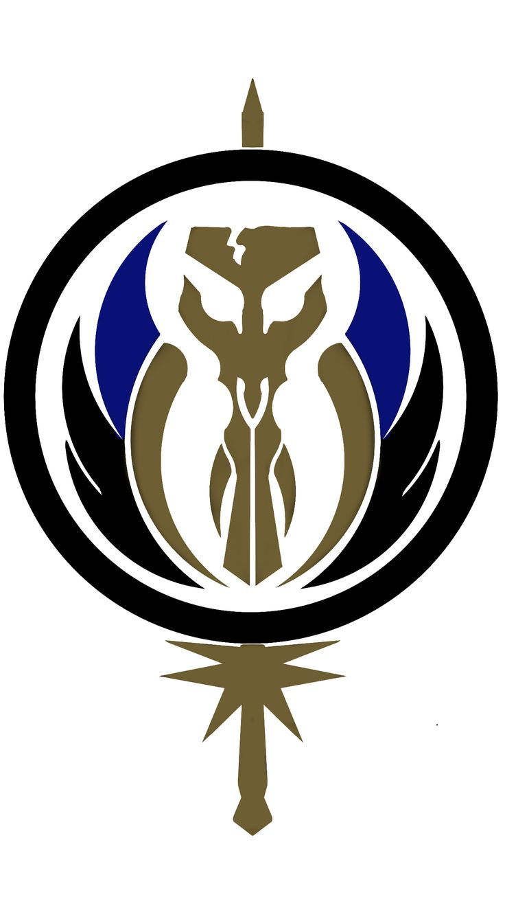 This is how Mandalorians as Jedi would bare their symbol
