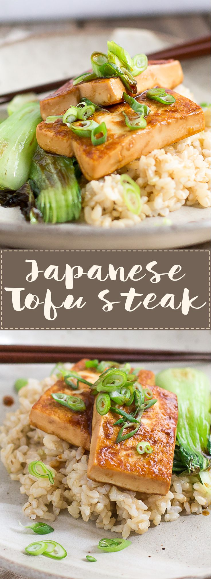 Japanese Tofu Steak- Protein Packed, Healthy, Easy, and Quick!