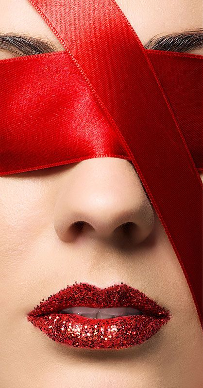 .: Kiss, Color Red, Ribbons, Makeup Lips, Red Lips, Lady, Eyes, Red Hot