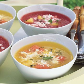 Chilled Watermelon Soup Recipe  at Epicurious.com