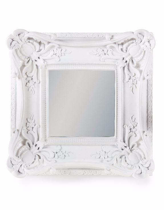 Antique White Ornate Framed Mini Wall