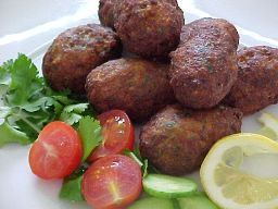 Cyprus recipe! keftedes (meatballs). best eaten hot out of the frying pan ;-)