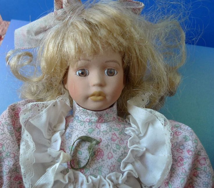 Collectibles Nice Vintage Porcelain Girl Doll Toy from collection 12in.