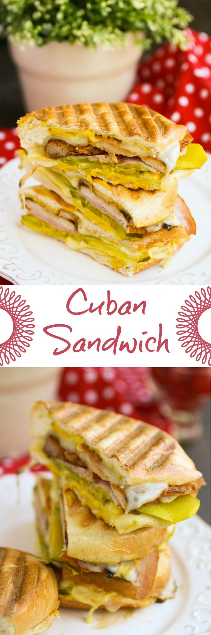 A Cuban sandwich is a treat for lunch or dinner! Big flavor meets heartiness in this classic sandwich!