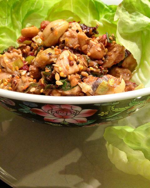 Cashew Chicken Lettuce Wraps | #lowcarb #paleo #glutenfree #dairyfree