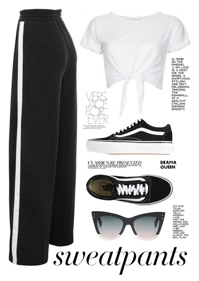 Chill by annacpp on Polyvore featuring polyvore, fashion, style, Vans, Fendi, INC International Concepts, Chanel, clothing and sweatpants