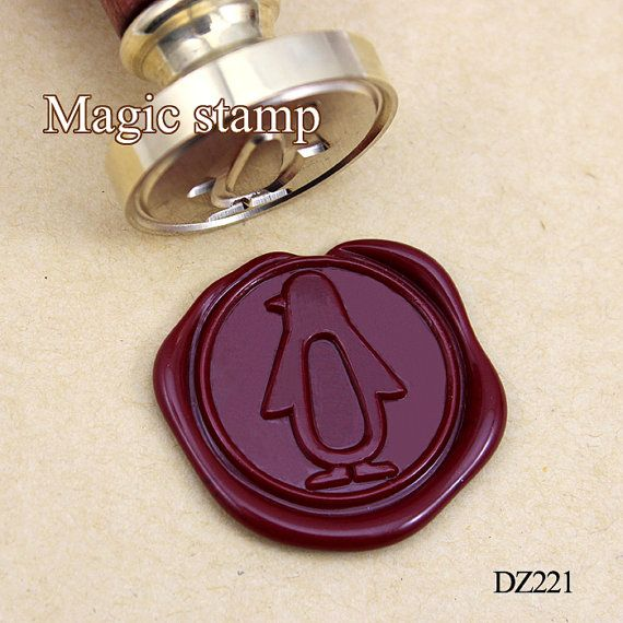 Penguin Wax Seal Stamp wedding stamp sealing wax by MagicStamp