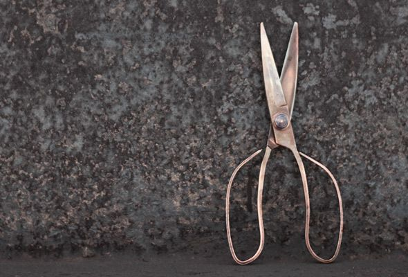 Ain't no way in the world I could pay $90 for a pair of Japanese copper scissors, but they sure are dandy.
