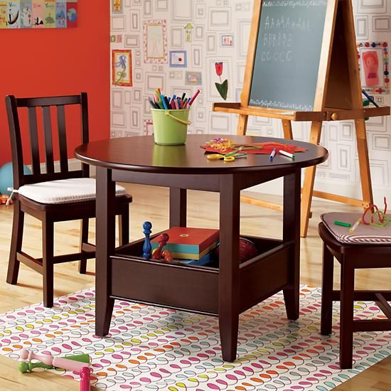 Land of nod Kids\u0027 Play Tables Kids Espresso Storage Bin Table in Play Tables \u0026 Chairs & 9 best Kids tables images on Pinterest | Table and chair sets ...