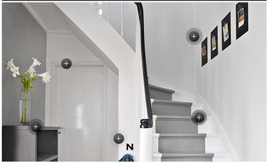 Malt trapp, litt fint med grått i midten