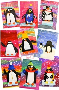 Vibrant Penguin Art Project