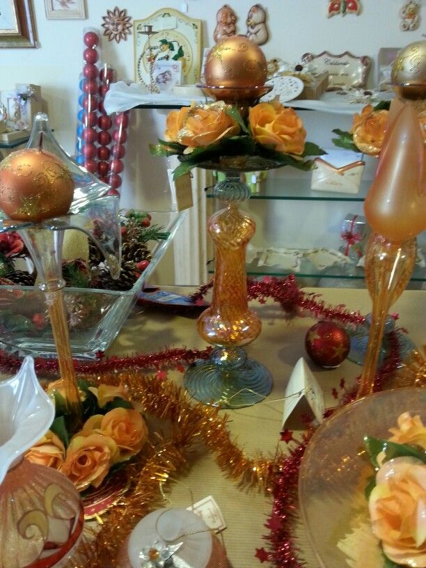 Candeliere vetro soffiato