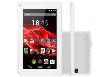 """Tablet-Oferta da Semana!-Tablet Multilaser Supra 8GB 7"""" Wi-Fi - Android 4.4 Proc. Quad Core Câmera Integrada-O tablet ML Supra da Multilaser acompanha a velocidade dos seus pensamentos! Com processador Quad Core, Tela de 7'', Dual Câmera, 8GB de memória interna e 512MB e RAM, bateria de alta duração e conexão Wi-Fi e 3G compatível com modem para você viver conectado!"""