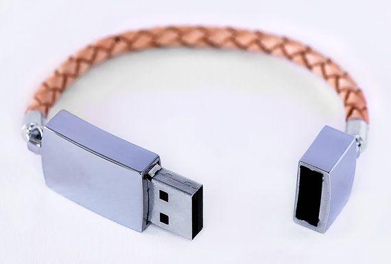 USB+stick+leather+braided+bracelet+by+bynordvik+on+Etsy,+€30.00