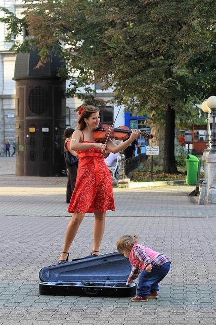 A Hungarian Street busker