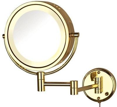 Jerdon 1x Amp 8x Magnification Halo Lighted Wall Mounted