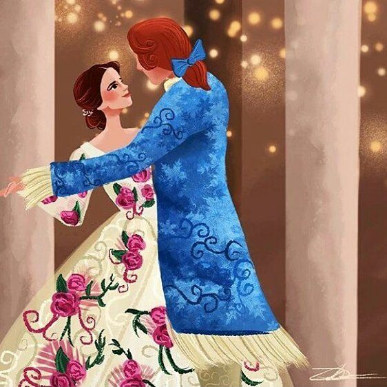 Belle and Adam... ARTIST @ILLUSTRATIONSBYDIL if you intend to publish this is required to give credit to his artist.