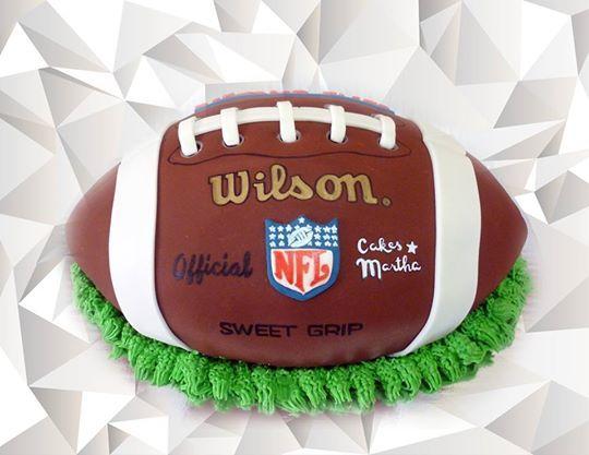 pastel de balón de futball americano