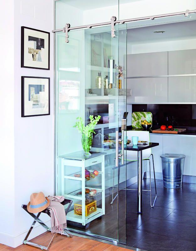 M s de 1000 ideas sobre puertas correderas de cristal en - Puertas correderas para cocinas ...