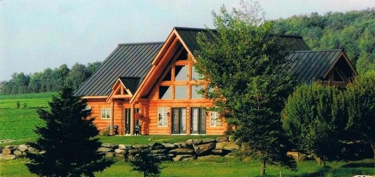 habitation du patriote chalets en bois rond. Black Bedroom Furniture Sets. Home Design Ideas