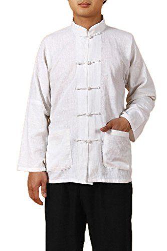 Bigood Traditional Long Sleeve Tang Kung Fu Uniform Men's Shirt M White Bigood http://www.amazon.com/dp/B00URK63QS/ref=cm_sw_r_pi_dp_LZ6.wb1GT2T2T