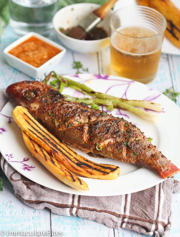 Caribbean Grilled Whole Red Snapper- Fairly Easy to make with a great blend of spice- Moist, tender and flavorful.