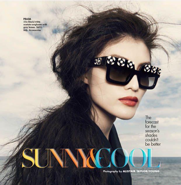 fregole.com #fregole #sunglasses #2013 #trend #summer #prada Sui He is An Island Beauty for Neiman Marcus May 2013