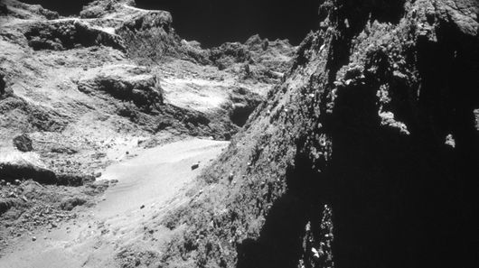 The newly released photos were taken as the Philae lander plunged toward to comet's surface and in the days immediately after