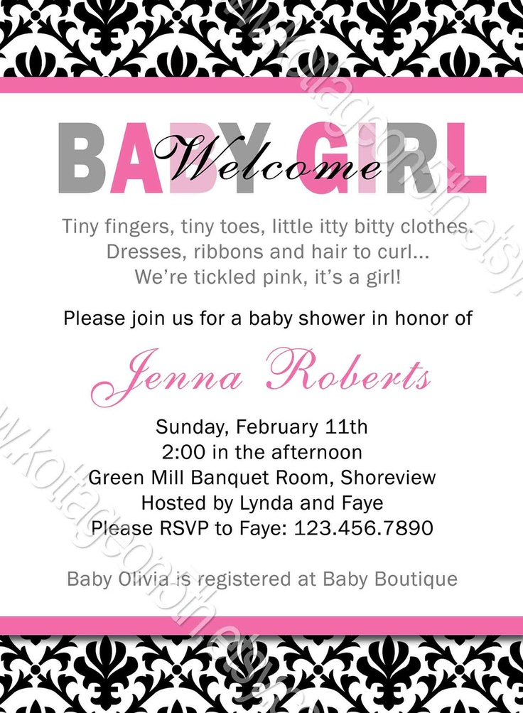 12 best amys shower sugar n spice images on pinterest baby shower welcome baby girl mod shower invitation demask by kottageon5th 1600 filmwisefo