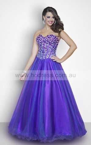 Sweetheart Sleeveless Ball Gown Lace-up Floor-length Formal Dresses aeza307009