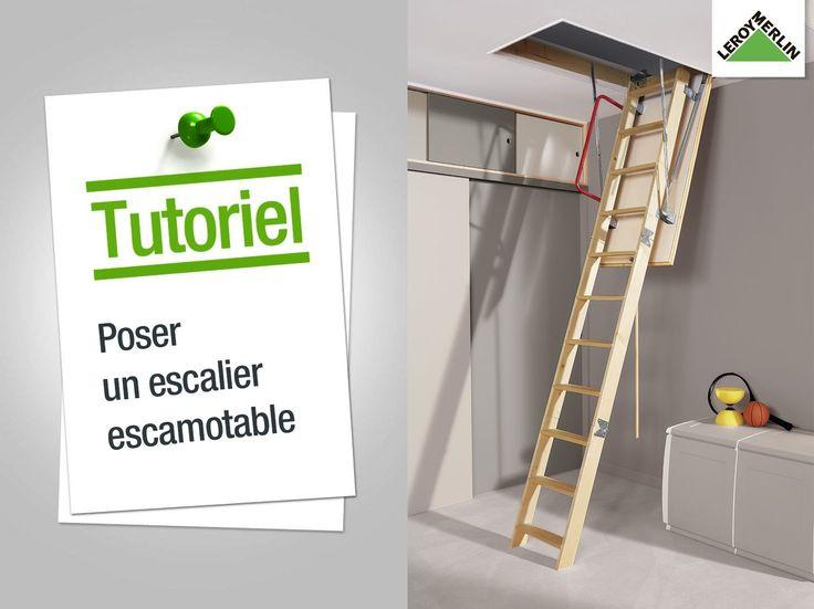 les 25 meilleures id es de la cat gorie escalier escamotable sur pinterest echelle escamotable. Black Bedroom Furniture Sets. Home Design Ideas