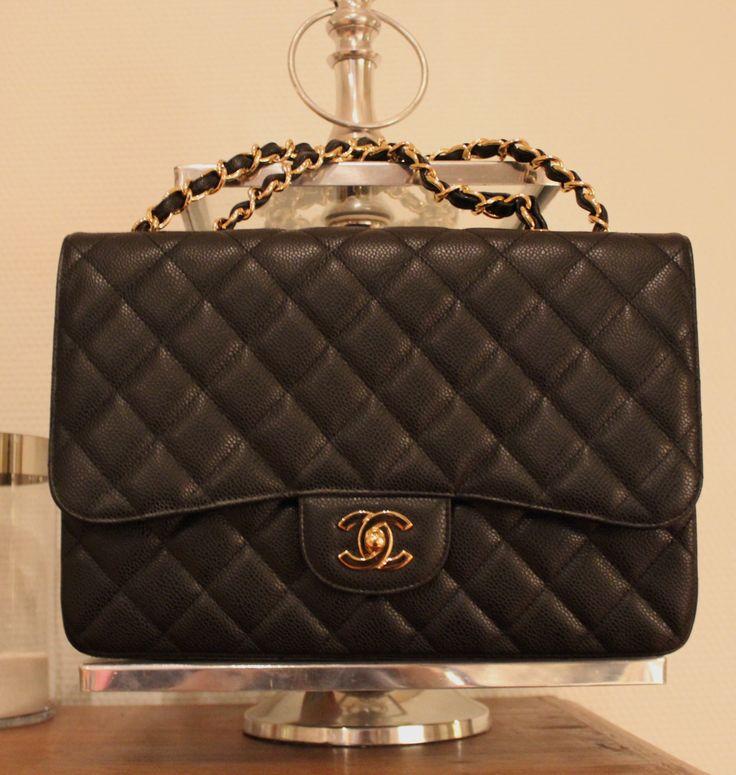 Chanel Jumbo Single Flap Bag with Caviar leather http://mankka1717.blogspot.fi/p/chanel.html