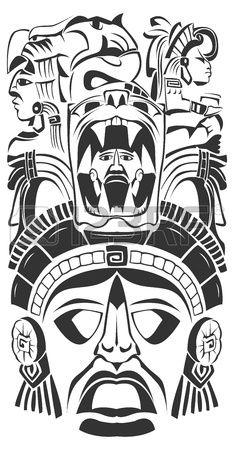 las 25 mejores ideas sobre tatuajes mayas en pinterest y m s tatuaje azteca arte azteca y. Black Bedroom Furniture Sets. Home Design Ideas