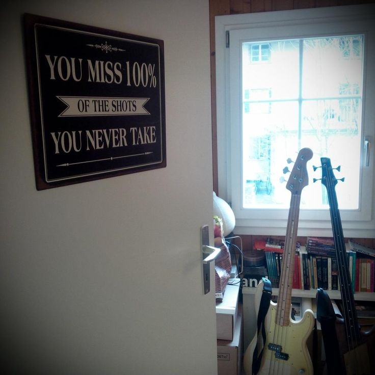 You miss 100% of the shots you never take! (and 2 bass guitars) #bass