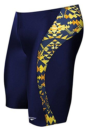 The Finals Mens Aztec Splice Jammer  NavyGold Size  36 ** View the item in details by clicking the image