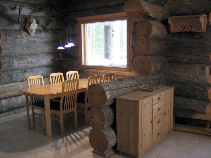hirvipirtit lapland cabins Finland, Taivalkoski, cabin nr 2, eating corner