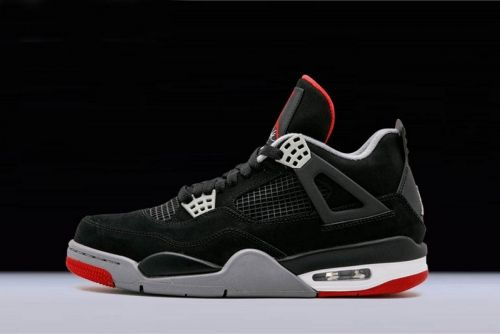 ae6877d9290d09 Authentic Air Jordan 4 Retro Bred Black Cement Grey-Fire Red 308497-089 For  Sale - ishoesdesign